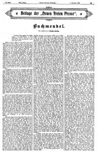 Supplément de la Neue Freie Presse 1er novembre 1929